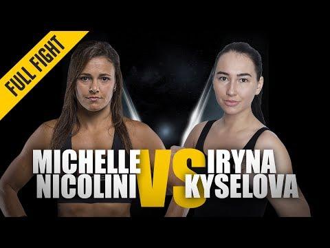 ONE: Full Fight | Michelle Nicolini vs. Iryna Kyselova | Breathtaking Submission | March 2018