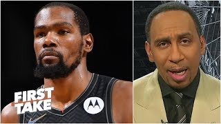 Kevin Durant is clearly the most important piece to the Brooklyn Nets - Stephen A. | First Take