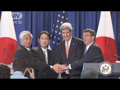 中国念頭に協力へ 日米がガイドライン改定で合意(15/04/28)