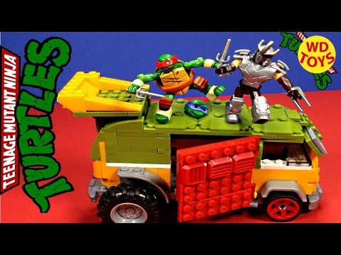 MGEA BLOCKS 2016 Teenage Mutant Ninja Turtles Classic Party Wagon Speed Build