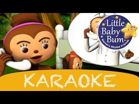 Five Little Monkeys | Karaoke Version With Lyrics HD from LittleBabyBum!