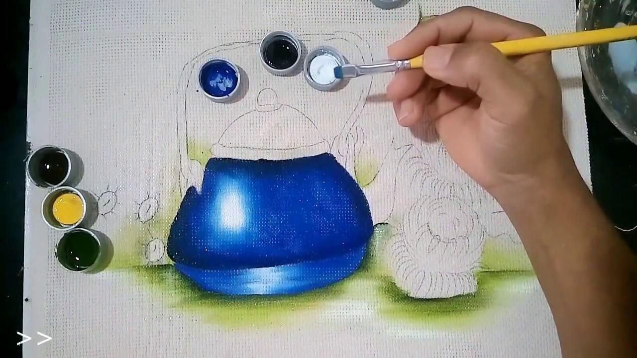 Roberto ferreira parte 1 como pintar chaleira - Como pintar bien una pared ...