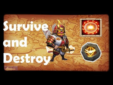 Ronin SCORCH + SURVIVE | Survive And Destroy!!! | Ronin Build 2019 | Castle Clash Gameplay