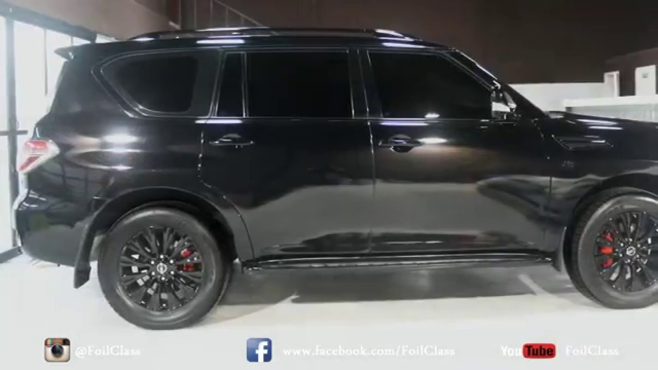 Nissan Patrol in Black Glossy - YouTube