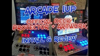 Arcade 1UP Official Deck Protector / Cover + Graphic Art Mod Review