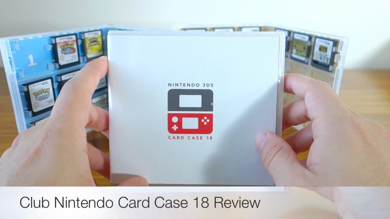 Club Nintendo 3ds Card Case 18 Game Storage Case Review Youtube