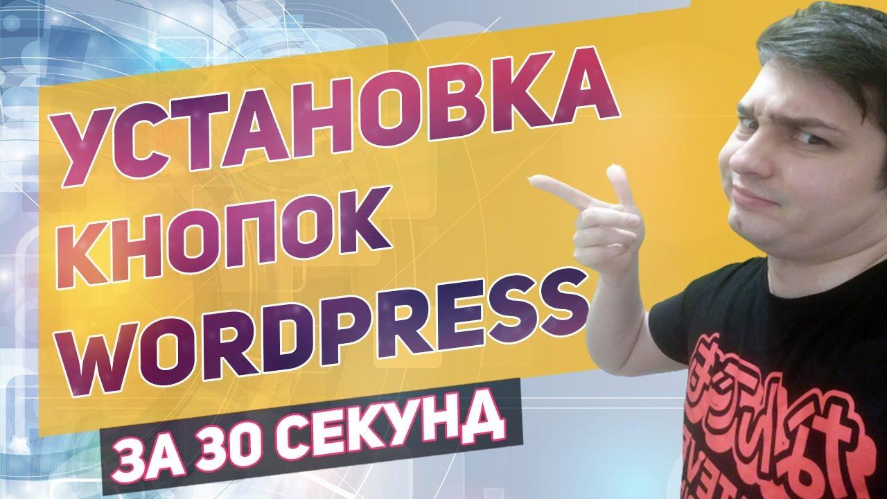 Как установить кнопку на сайт Wordpress за 30 секунд. Wordpress кнопка с помощью плагина!