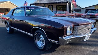 Test Drive 1970 Chevrolet Monte Carlo SOLD $17,900 Maple Motors #1023