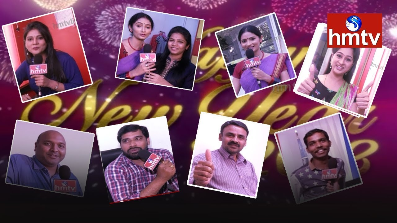 hmtv employees new year wishes happy new year 2018 telugu news hmtv news