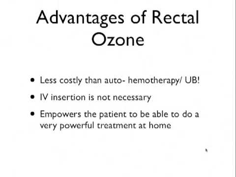 Ozone Rectal Insufflation August 2013 Coaching