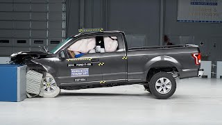 2016 Ford F-150 extended cab moderate overlap IIHS crash test