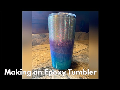 Making an Epoxy Tumbler with TotalBoat Table Top Epoxy #shorts