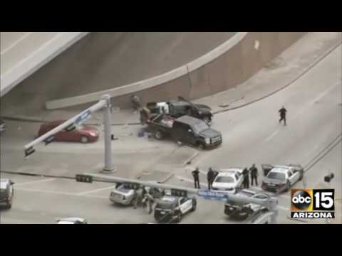 FULL: VIOLENT COLLISION ends CRAZY Houston, TX Police Pursuit - Car Chase
