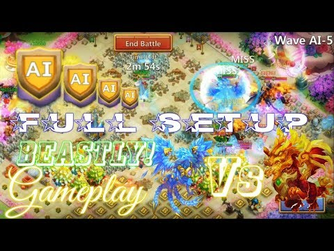 HBM AI Gameplay & Heroes Setup - Castle Clash