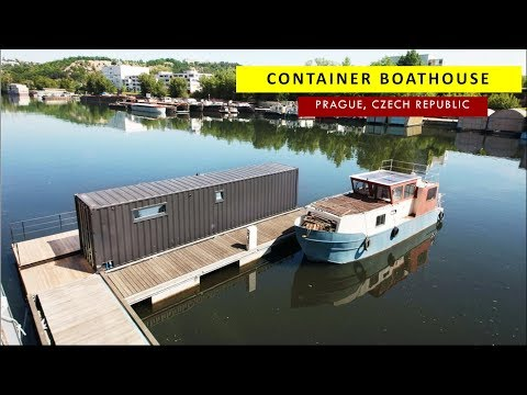 Floating House: Shipping Container Houseboat in Prague
