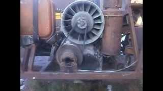 Ifa 1vd 8/8 sl Ремонт дизеля.відео7.Запуск двигуна взимку(0 градусів)вручну.