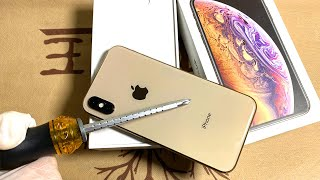 Unboxing iPhone Xs   Unboxing iPhone xs Gold - XS (Gold) ASMR Unbox   Unboxing Apple iPhone Xs