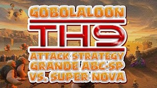 CLASH OF CLANS War Recap GRANDE ABC-SP vs. SUPERNOVA (GOBOLALOON vs. VALK)