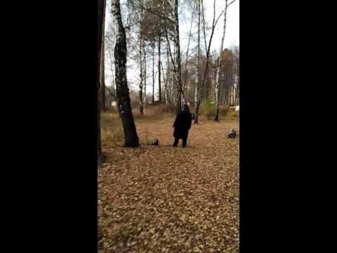 Странный мужик поет в лесу