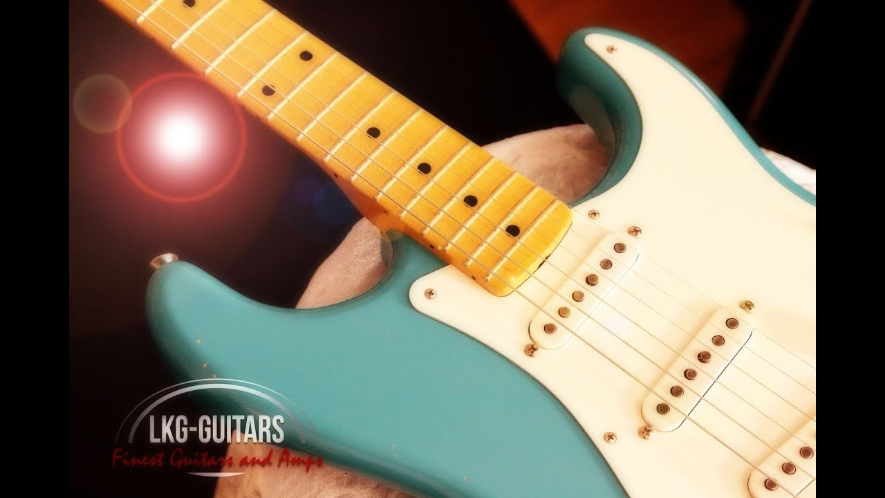 Fender Custom Shop 1956 Stratocaster Duo Tone Relic-Taos Turquoise ...