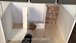 DIY DOLLHOUSE for BARBIE DOLLS