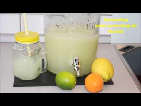sadece 2 limon ile  3 litre limonata nasil yapilir tarifi - en kolay Limonata tarifi - Nurmutfagi