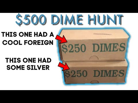 $500 In Dimes! Foreign And Silver Found Coin Roll Hunting