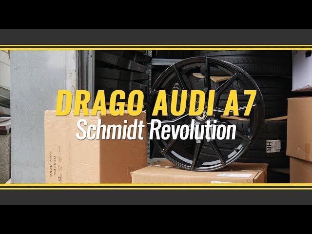 Audi A7 mit Schmidt Revolution Drago in 9Jx21H2 mit 265/30R21 Conti Reifen
