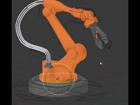 Robot assembly arm blender 3d rig youtube - Robots mixeurs et blenders ...