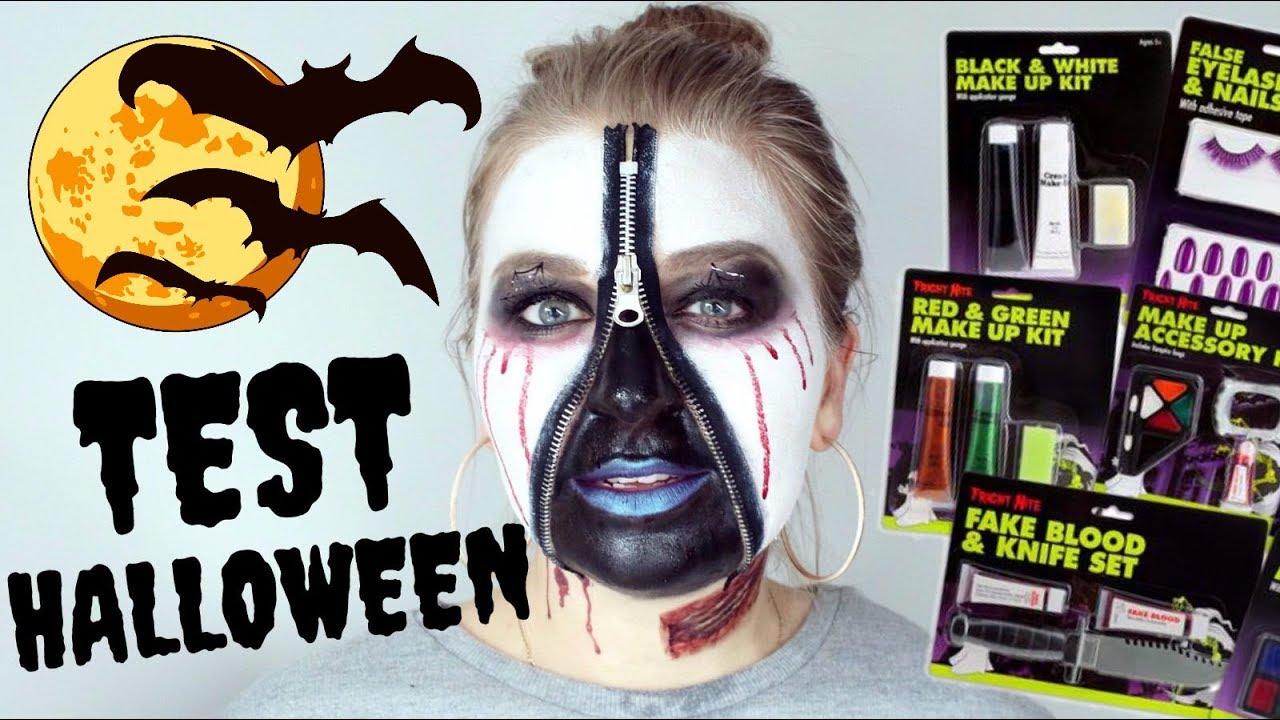Test Gadżety Na Halloween Charakteryzacja Za 20 Zł Zestaw Do Makijażu Tatuaże Rzęsy