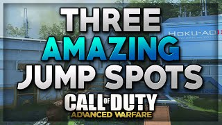 "Call Of Duty Advanced Warfare Jump Spot - ""Retreat, Recovery, Riot Ontop Of Map"" 3 Amazing Glitches!"