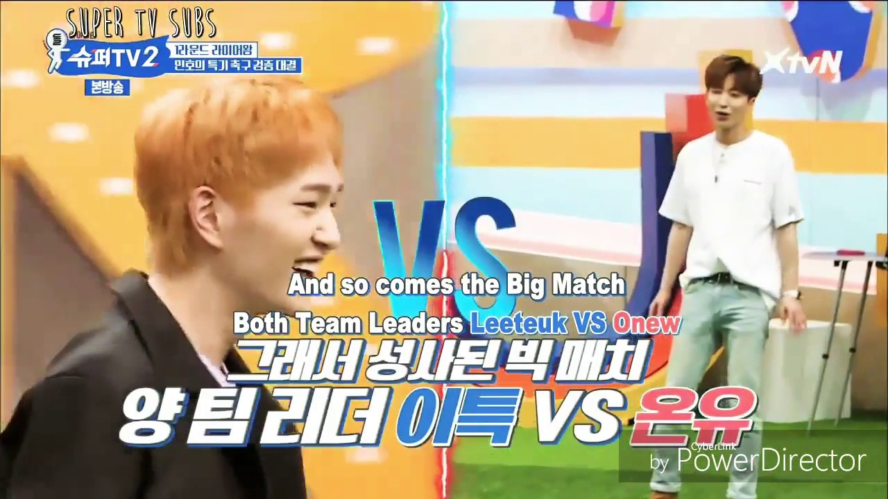 [Super Tv 2| Ep3|Eng Sub] Only SHINee and Suju can play football like this