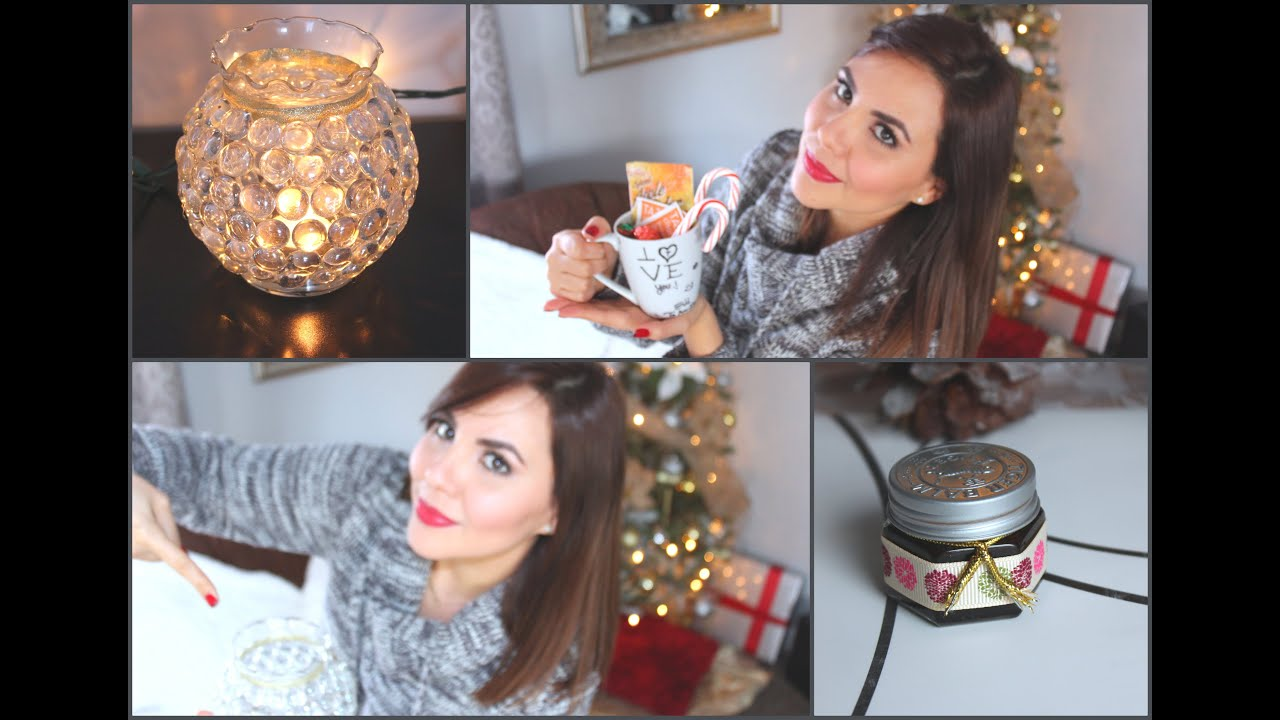 Diy 4 ideas para regalar esta navidad youtube for Adornos navidenos para regalar