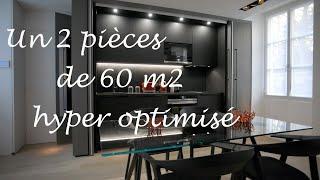 Comment aménager un 2 pièces de 60 m2. Architecture intérieure