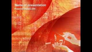 Classical Music PowerPoint Template by PoweredTemplate.com