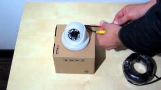 Обзор купольной камеры видеонаблюдения c ИК подсветкой