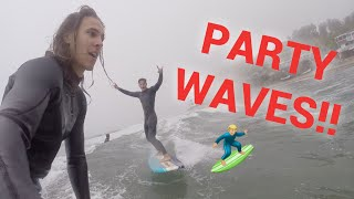 PARTY WAVES!! NO SHARKS SLOWING US DOWN!!