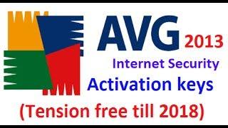 avg 2013 activation keys ( tension free till 2018 )