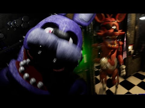 REMASTERED FOXY RUNS INTO OUR OFFICE! || Five Nights at Freddys Remastered