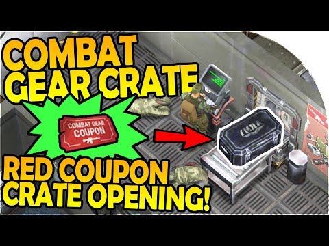 COMBAT GEAR CRATE EPIC LOOT - RED COUPONS CRATE OPENING! - Last Day on Earth Survival Update 1.5.6