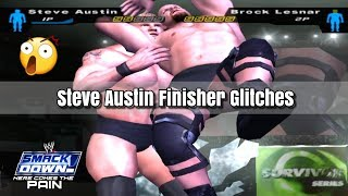 Steve Austin Finisher Glitches In Table Match