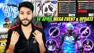 14 April Event, Free items, New Features, Top up Event, Arctic Blue & more, Free Fire News Updates !