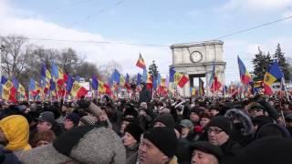 Молдавский народ против власти! 24.01.16 (full video) Хроника многотысячного митинга протеста