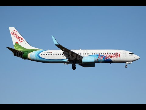 IN FLIGHT  AIR VANUATU TAKE OFF FROM BRISBANE AIRPORT