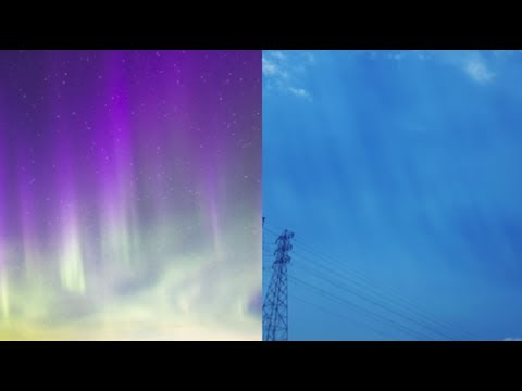 CA observer sees something similar to Auroras in daytime sky! - Oxnard CA