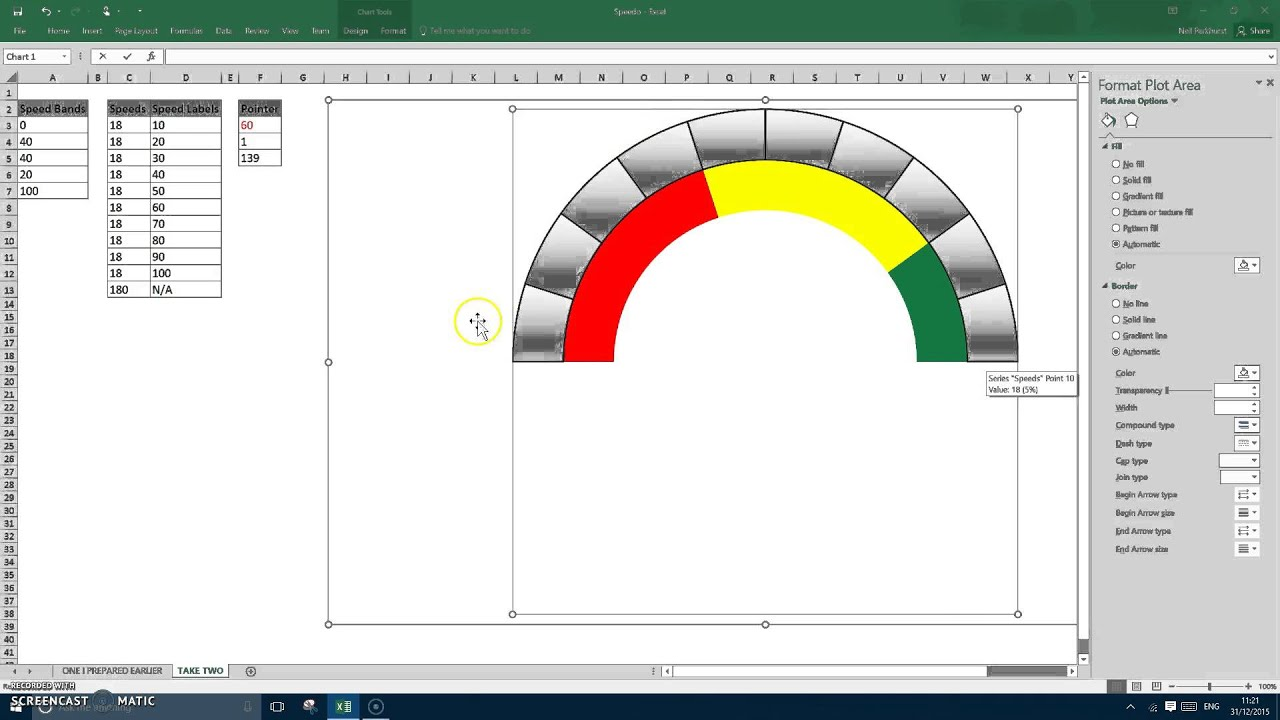 Excel speedometer chart youtube pronofoot35fo Images