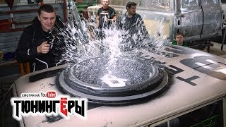 САМЫЙ БОЛЬШОЙ САБ в МИРЕ в КРЫШУ ВАЗ 2102 + СХОДКА в Новосибе