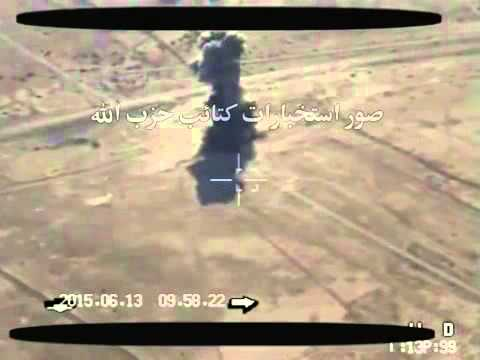 iraq shia militia using iranain made armed drone shahed 129 target isis wahhabi crazy near baghdad