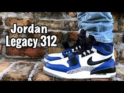 "c23bf1ea0bfc Air Jordan Legacy 312 ""Storm Blue"" on feet - YouTube"