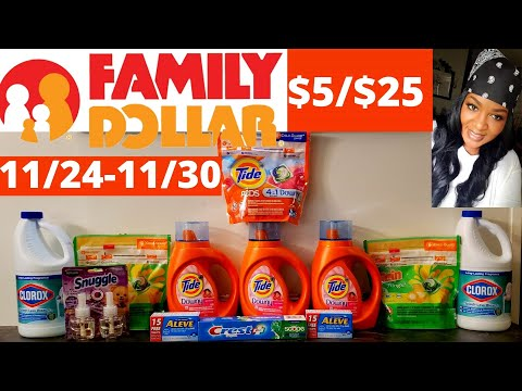 FAMILY DOLLAR  COUPONING -$5/$25 SCENARIO - 11/24-11/30-  DIGITAL AND PAPER COUPONS. DEAL GONE WRONG